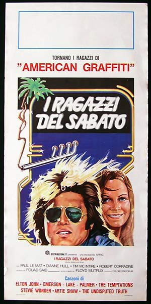 ALOHA BOBBY AND ROSE Original Locandina Movie Poster Paul Le Mat