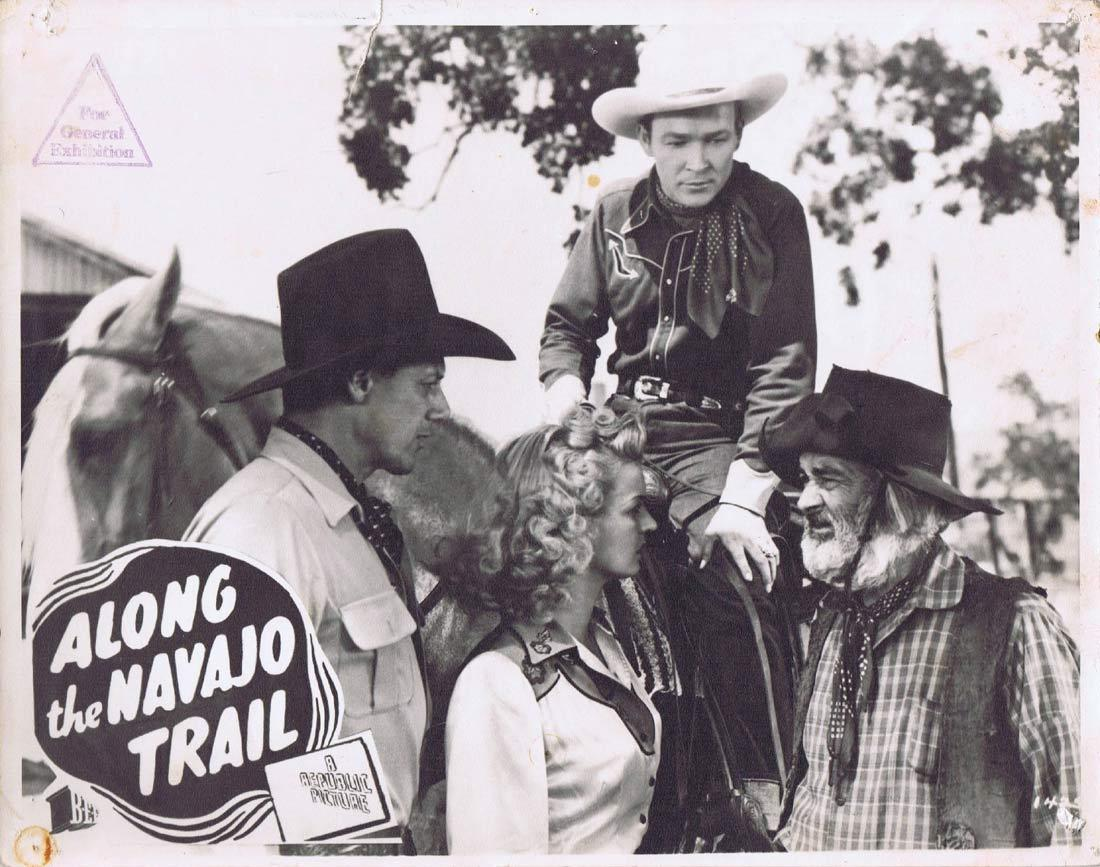 ALONG THE NAVAJO TRAIL Vintage Australian Lobby Card 2 Roy Rogers George 'Gabby' Hayes Dale Evans