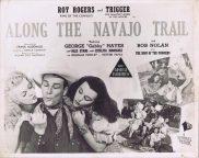 ALONG THE NAVAJO TRAIL Vintage Australian Lobby Card Roy Rogers George 'Gabby' Hayes Dale Evans