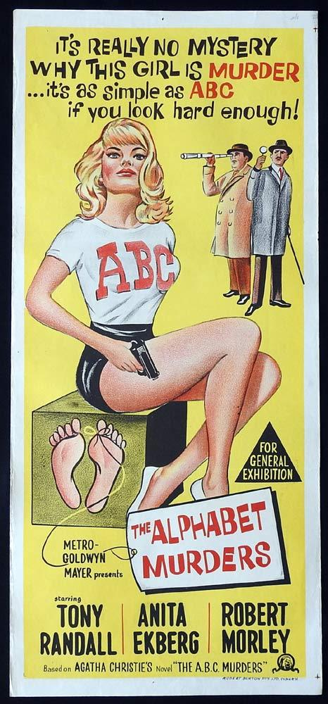 THE ALPHABET MURDERS Original Daybill Movie Poster Agatha Christie Tony Randall