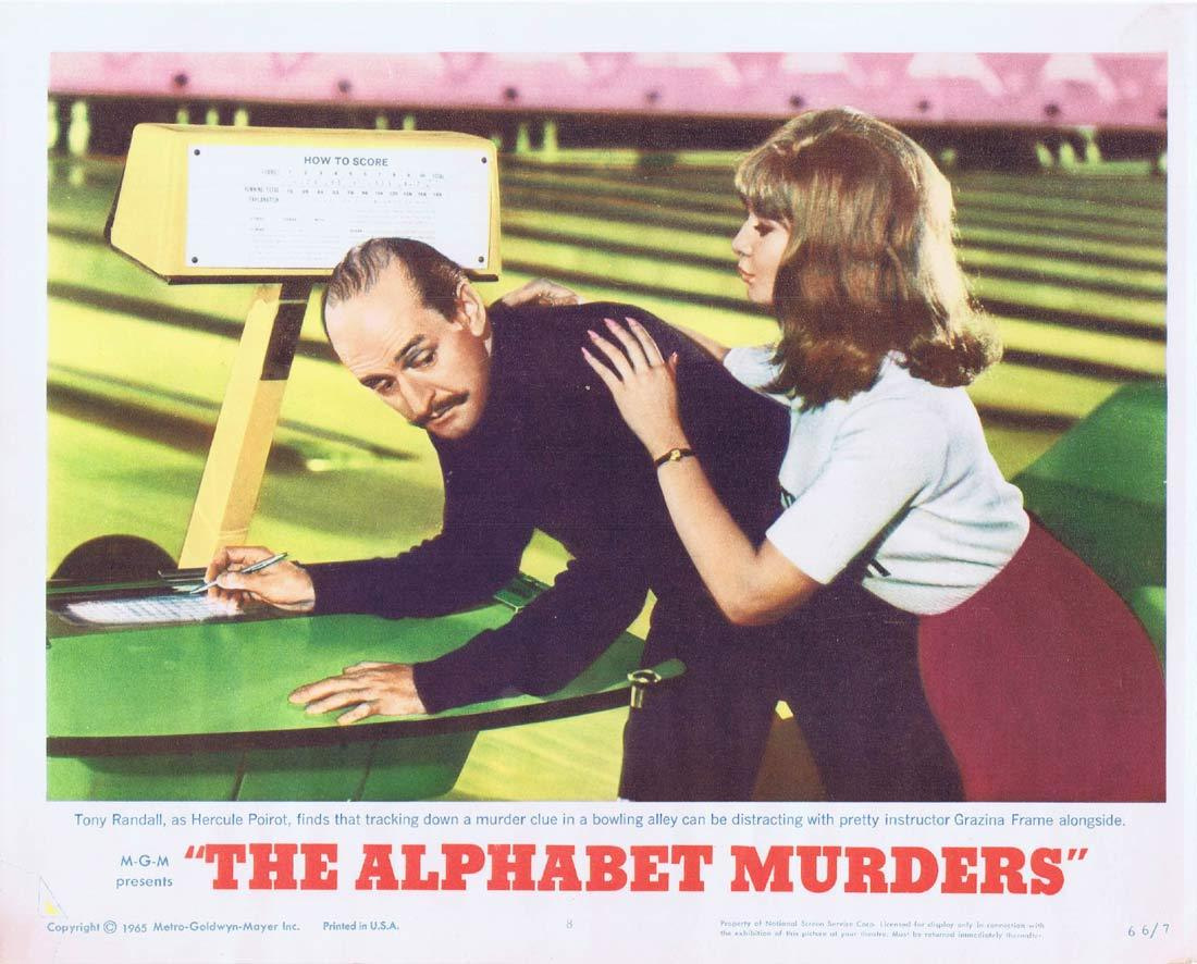 THE ALPHABET MURDERS Original Lobby Card Tony Randall Agatha Christie