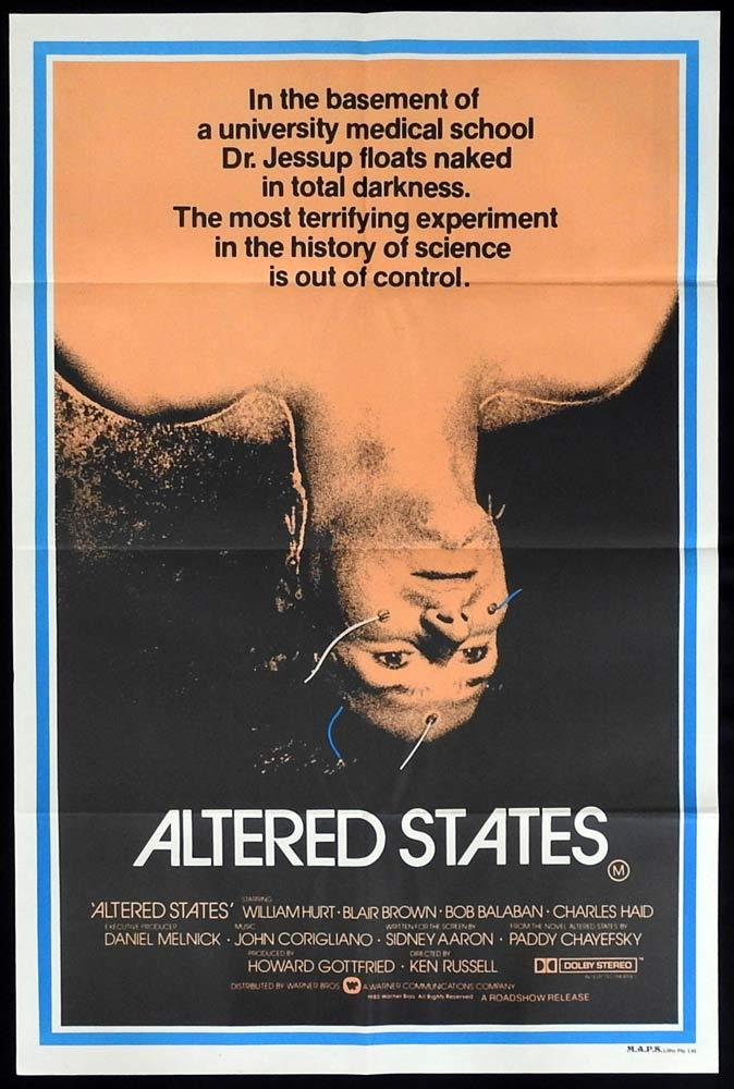 ALTERED STATES One sheet Movie Poster 1980 William Hurt Ken Russell