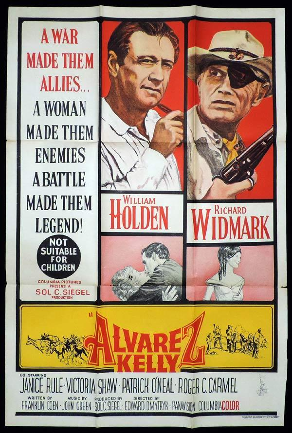 ALVAREZ KELLY One Sheet Movie Poster Preston Foster Western