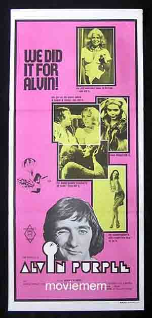 ALVIN PURPLE Daybill Movie poster 1973 Tim Burstall GRAEME BLUNDELL