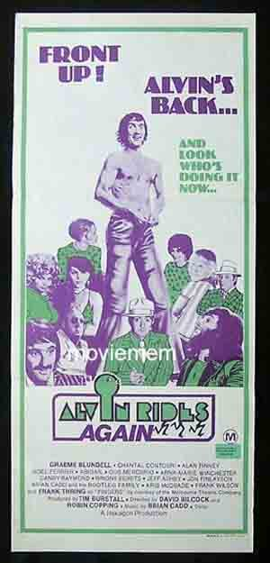 ALVIN RIDES AGAIN Original Daybill Movie Poster Graeme Blundell