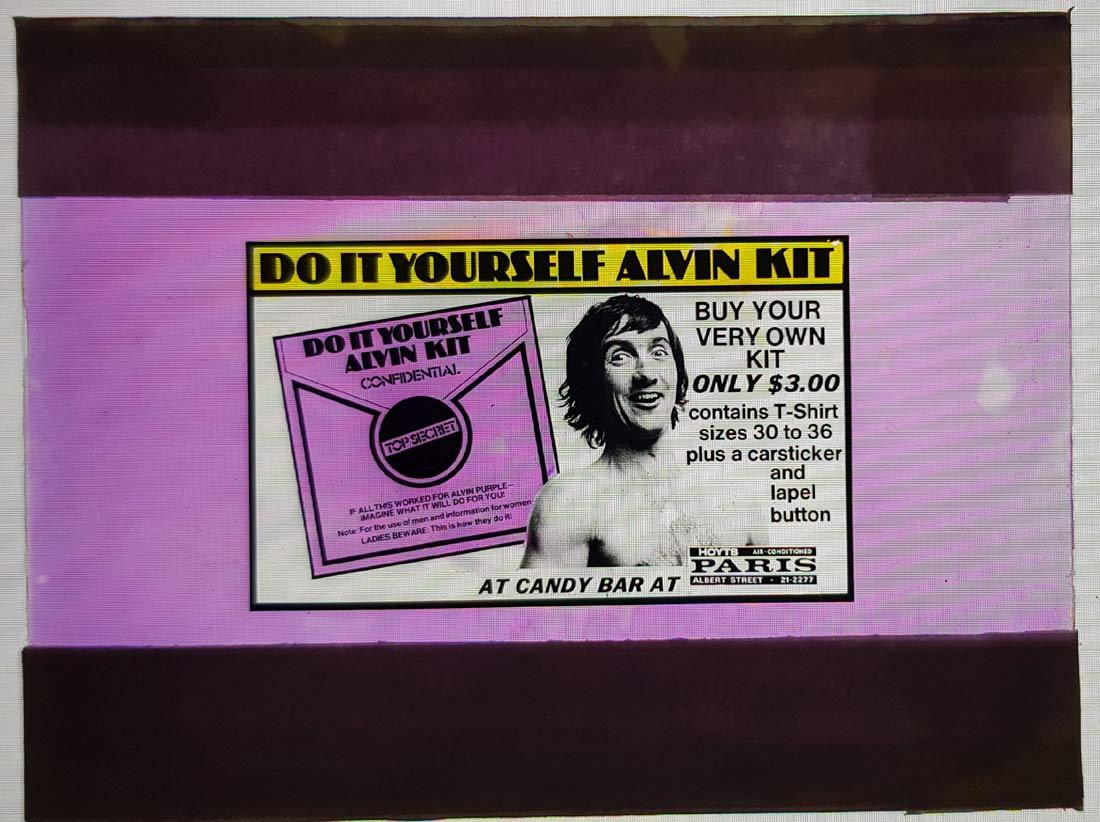 ALVIN PURPLE Movie Glass Slide Graeme Blundell Accessory Kit