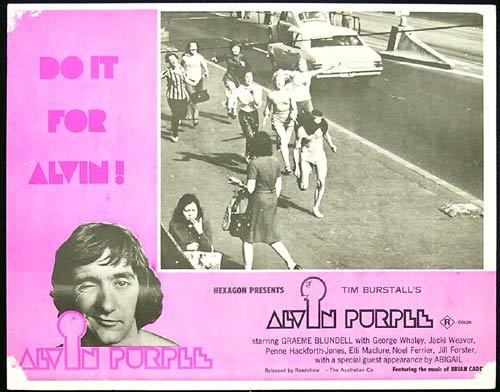 ALVIN PURPLE 1973 Tim Burstall GRAEME BLUNDELL Lobby card 2