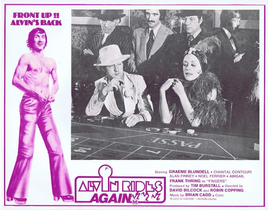 ALVIN RIDES AGAIN Lobby Card 6 Graeme Blundell at the Casino