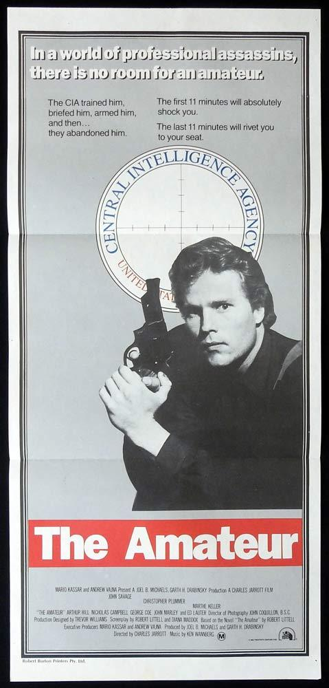 THE AMATEUR Original Daybill Movie poster Christopher Plummer CIA Espionage SPY