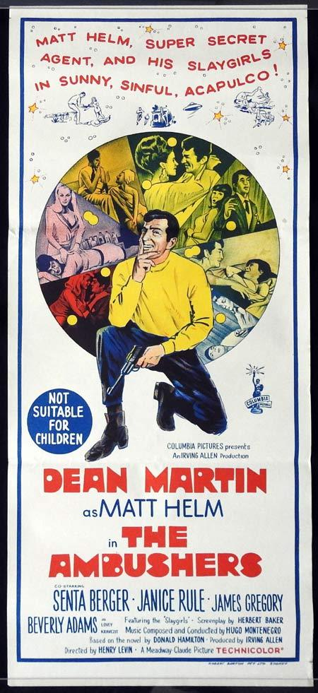 THE AMBUSHERS Original Daybill Movie Poster Dean Martin as Matt Helm