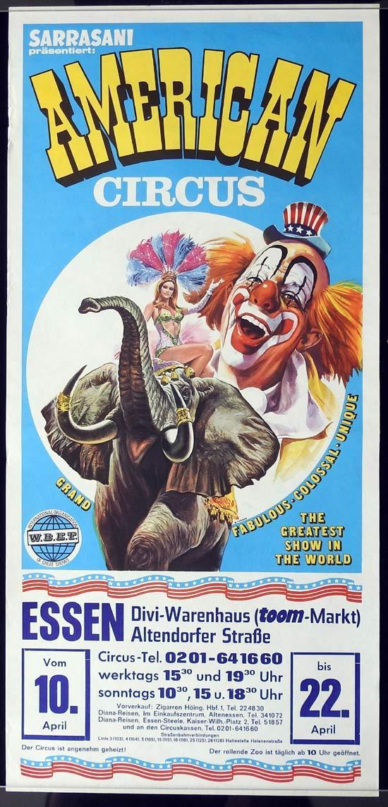 SARRASANI AMERICAN CIRCUS Original Poster ESSEN c.1990s