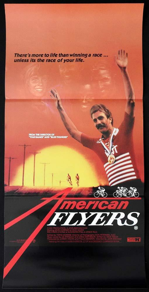 AMERICAN FLYERS Original Daybill Movie Poster CYCLING Kevin Costner Janice Rule