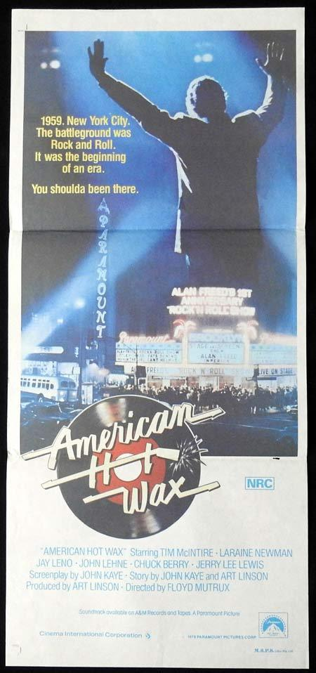 AMERICAN HOT WAX Original Daybill Movie Poster Tim McIntire Jay Leno
