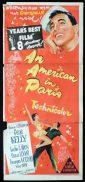 AN AMERICAN IN PARIS Daybill Movie Poster Gene Kelly