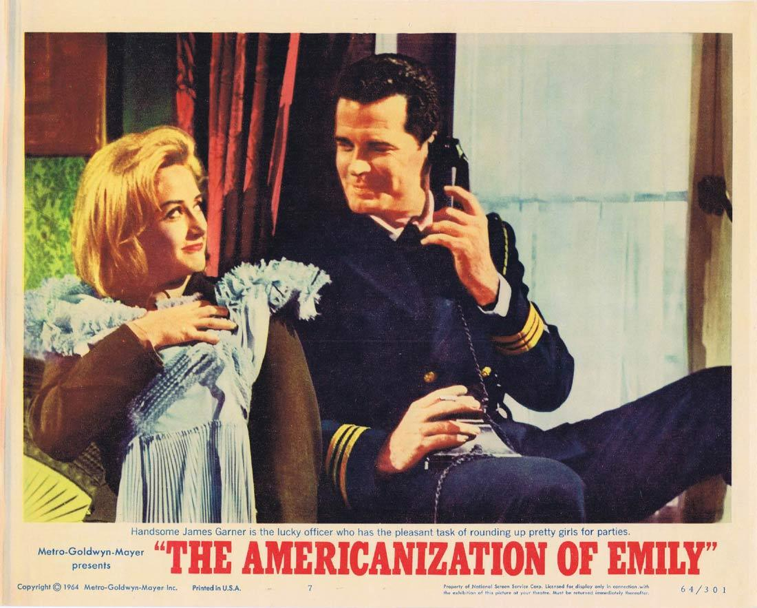 THE AMERICANIZATION OF EMILY Lobby Card 7 James Garner Julie Andrews Melvyn Douglas