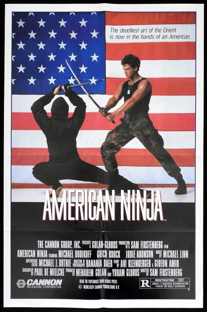 AMERICAN NINJA Original One sheet Movie Poster Michael Dudikoff Martial Arts