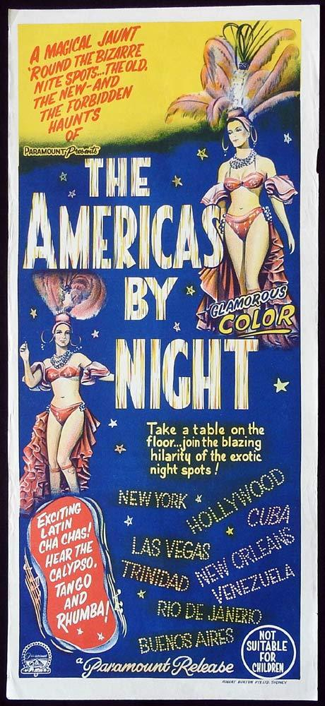 THE AMERICAS BY NIGHT Original Daybill Movie Poster Elizeth Cardoso Ellen de Lima