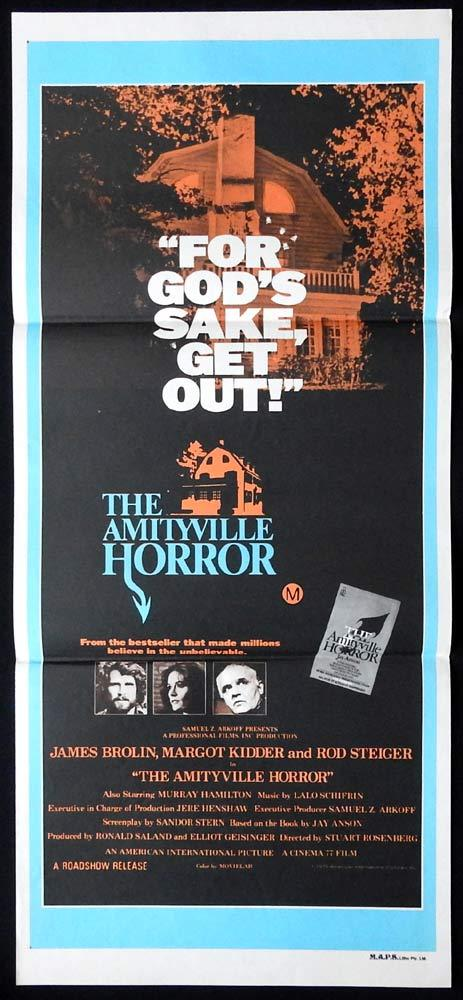 THE AMITYVILLE HORROR Original Daybill Movie Poster James Brolin Margot Kidder