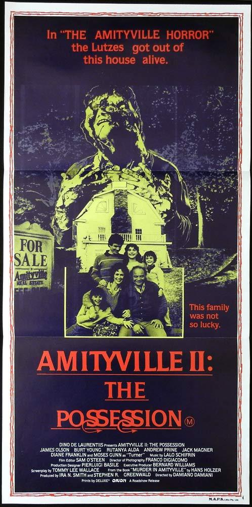 AMITYVILLE II THE POSSESSION Original Daybill Movie Poster James Olson Burt Young