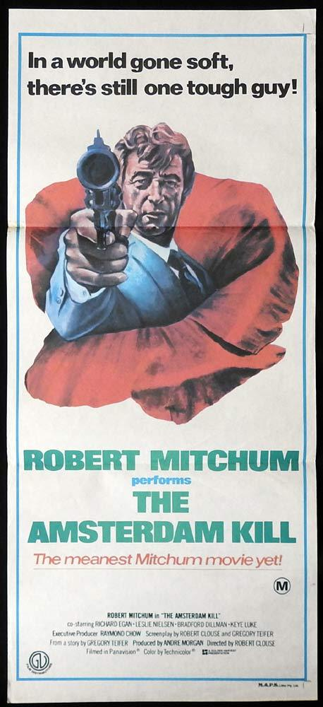 THE AMSTERDAM KILL Original Daybill Movie poster Robert Mitchum