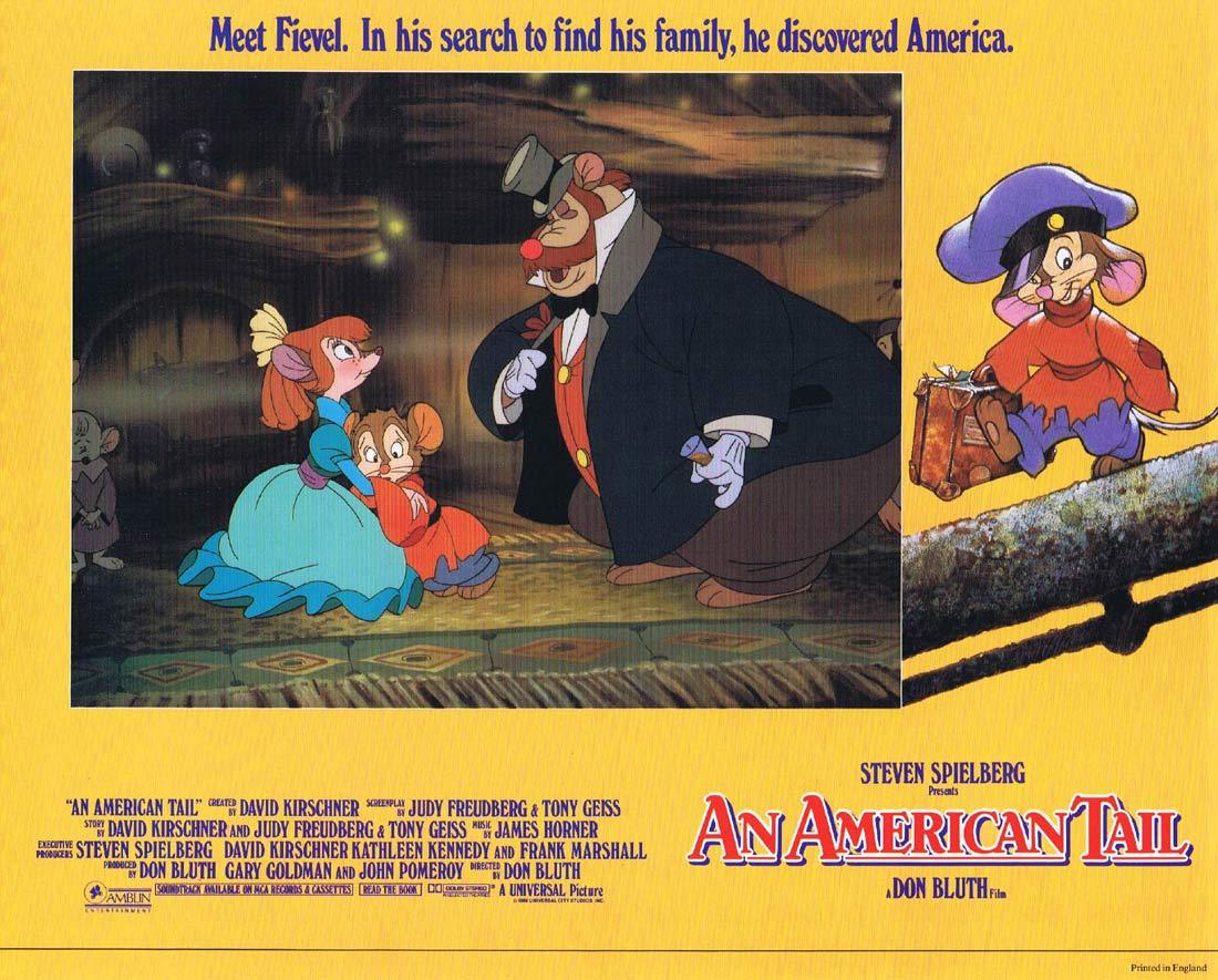 AN AMERICAN TAIL Lobby card 1 Don Bluth Fievel Steven Spielberg
