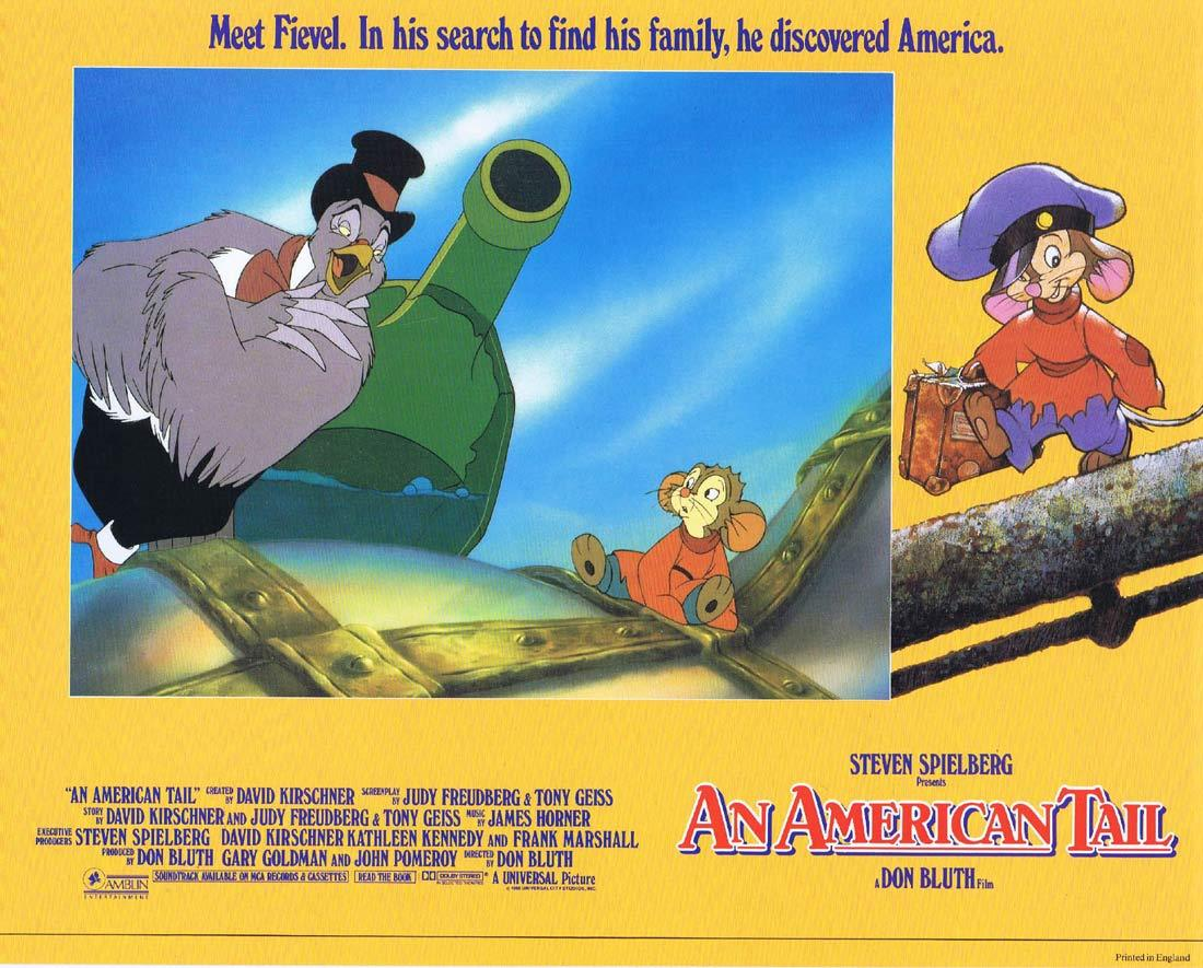 AN AMERICAN TAIL Lobby card 5 Don Bluth Fievel Steven Spielberg