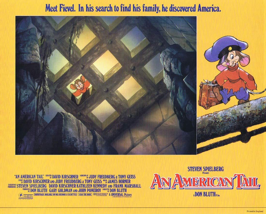 AN AMERICAN TAIL Lobby card 6 Don Bluth Fievel Steven Spielberg