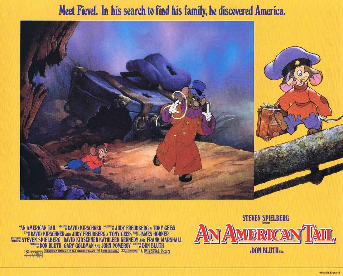 AN AMERICAN TAIL Lobby card 7 Don Bluth Fievel Steven Spielberg