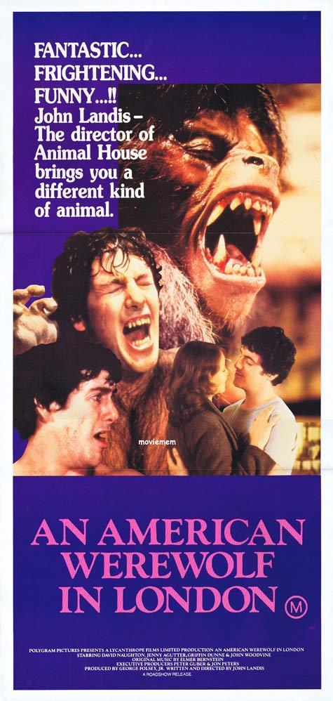 AN AMERICAN WEREWOLF IN LONDON Daybill Movie Poster