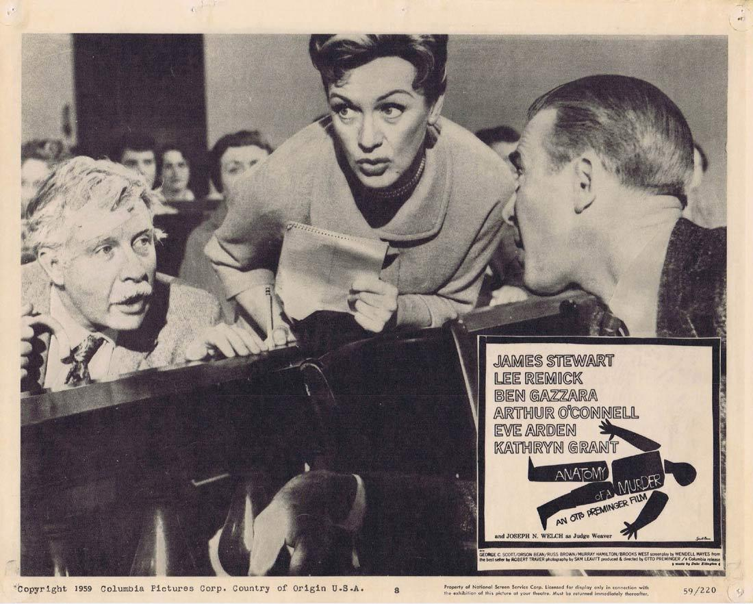 ANATOMY OF A MURDER Lobby Card 8 James Stewart Lee Remick Ben Gazzara