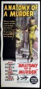 ANATOMY OF A MURDER Daybill Movie poster 1959 Preminger JAMES STEWART
