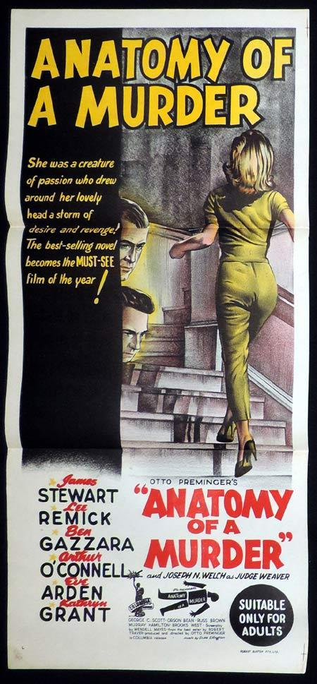 ANATOMY OF A MURDER Daybill Movie poster 1959 Preminger JAMES STEWART