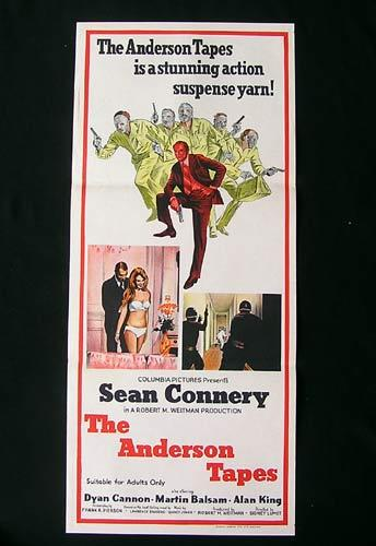 THE ANDERSON TAPES daybill Movie poster Sean Connery