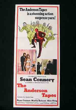 THE ANDERSON TAPES '71-Sean Connery ORIGINAL poster