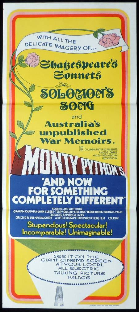 AND NOW FOR SOMETHING COMPLETELY DIFFERENT Daybill Movie Poster Monty Python NZ