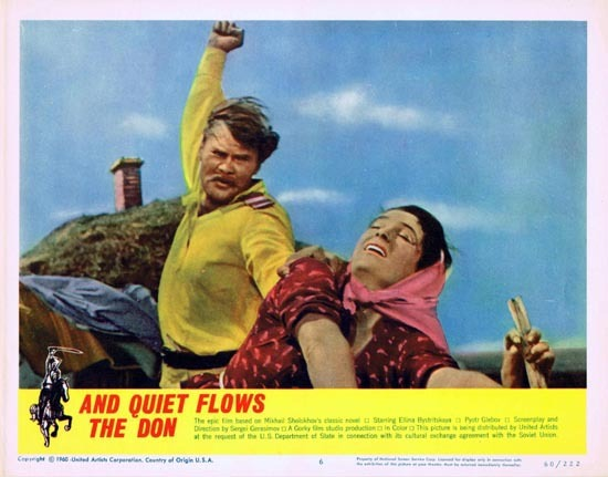 AND QUIET FLOWS THE DON 1960 Russian Cinema Classic US Lobby card 6