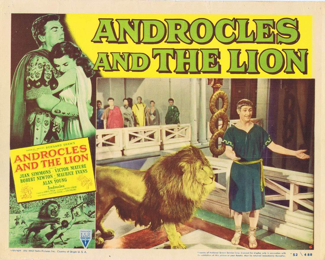 ANDROCLES AND THE LION Original Lobby Card 6 Jean Simmons Victor Mature Alan Young