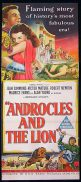 ANDROCLES AND THE LION Original Daybill Movie Poster Victor Mature Jean Simmons