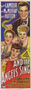AND THE ANGELS SING Original Daybill Movie Poster DOROTHY LAMOUR Fred MacMurray