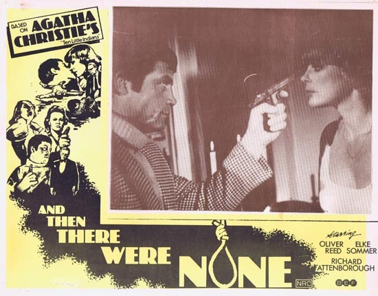 AND THEN THERE WERE NONE Lobby Card 1 1974 Agatha Christie Ten Little Indians