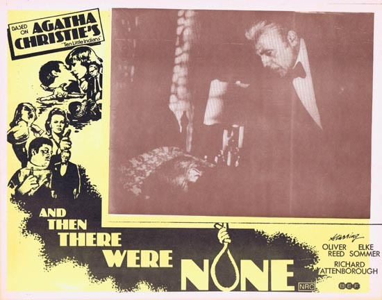 AND THEN THERE WERE NONE Lobby Card 3 1974 Agatha Christie Ten Little Indians