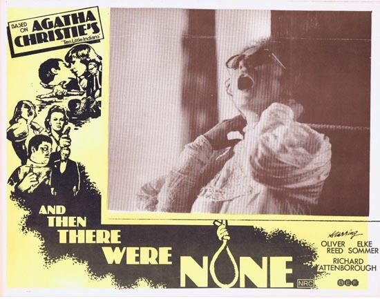 AND THEN THERE WERE NONE Lobby Card 4 1974 Agatha Christie Ten Little Indians