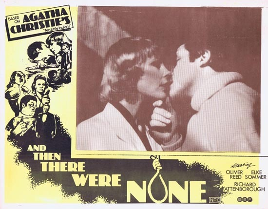 AND THEN THERE WERE NONE Lobby Card 5 1974 Agatha Christie Ten Little Indians