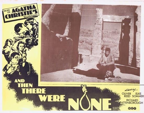 AND THEN THERE WERE NONE Lobby Card 6 1974 Agatha Christie Ten Little Indians