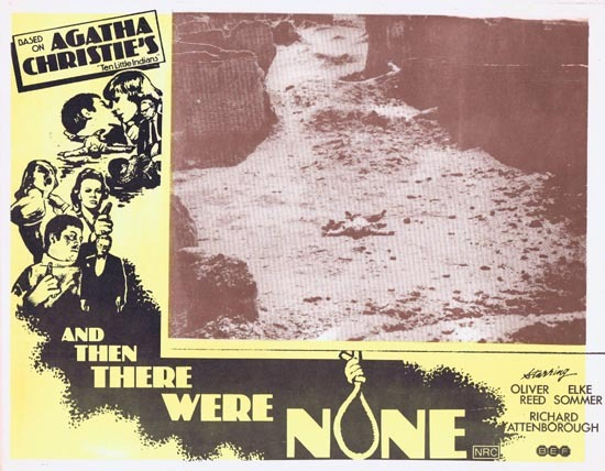 AND THEN THERE WERE NONE Lobby Card 7 1974 Agatha Christie Ten Little Indians