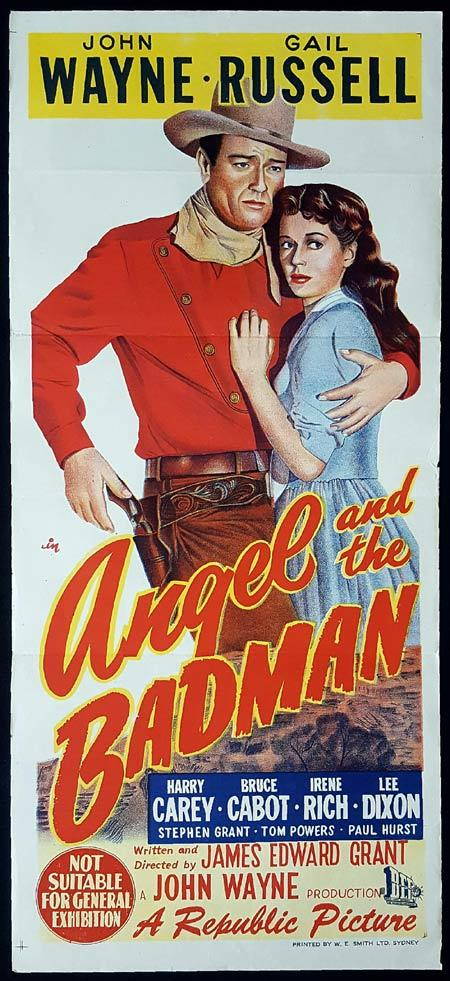 THE ANGEL AND THE BADMAN Original Daybill Movie Poster John Wayne