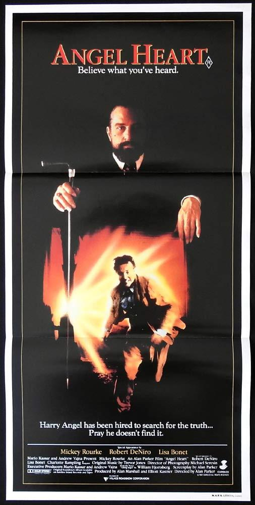 ANGEL HEART Daybill Movie Poster Mickey Rourke Robert De Niro Charlotte Rampling
