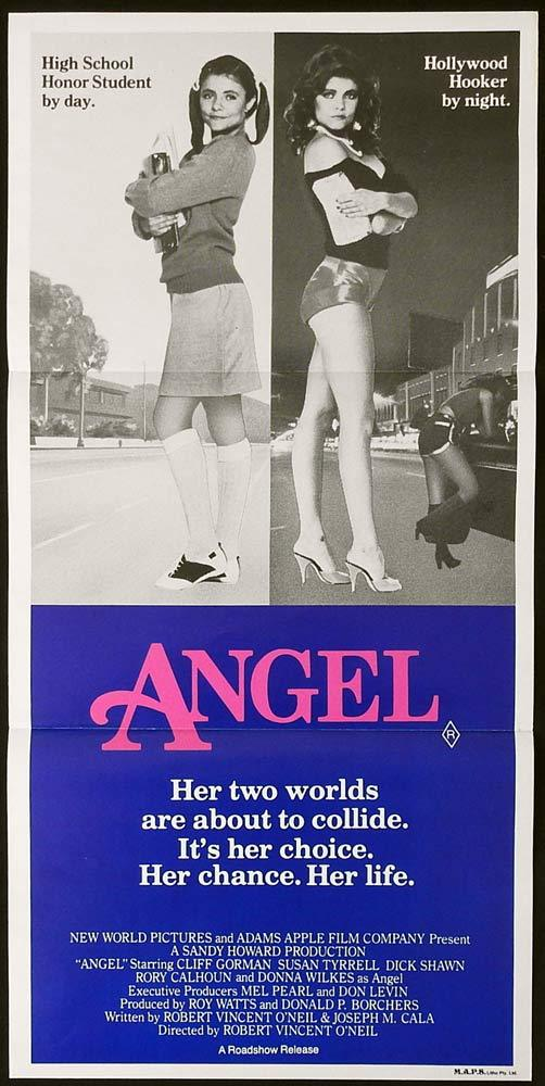 ANGEL Original Daybill Movie Poster Cliff Gorman Susan Tyrrell