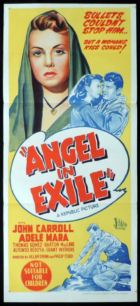 ANGEL IN EXILE Original Daybill Movie Poster Adele Mara John Carroll