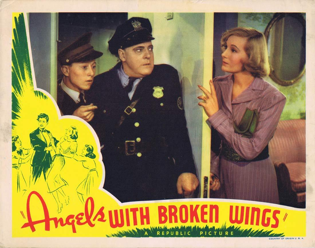ANGELS WITH BROKEN WINGS Lobby Card 2 Jane Frazee Binnie Barnes Gilbert Roland